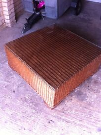 large garden table with glass coffee table