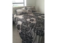 King size bed with 4 storage units