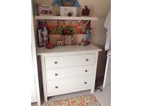 IKEA white chest of 3 drawers