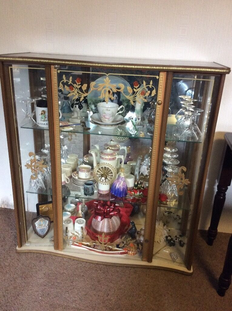 Vintage glass display cabinet - cupboard only no contents   in ...