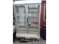 Commercial Twin Door Standing Freezer Verco