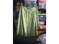 M and co knee length green skirt size 10