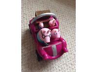 Peppa pig toy car