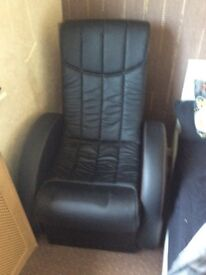 Leather reclining gaming chair