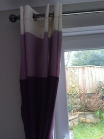Aubergine Patio door curtains