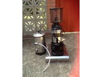 Commercial Coffee Grinder with Deluxe Coffee disposal unit