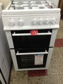 Belling 50cm white gas cooker with glass lid. RRP £379 price £240 new/graded 12 month Gtee