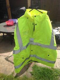 New Hi Viz Bomber jacket size3XL 129 to 141 chest