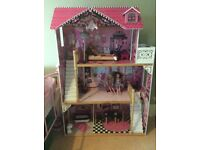 Large Kidkraft Dolls House with Furniture