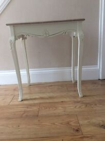 Country style side table. Immaculate condition, never been used. L59cm, W39cm, H64cm.