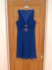 Debut royal blue dress, wedding special occasion size 12