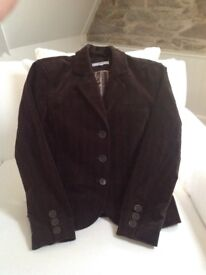 Brown cord jacket, size 16