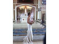 Ivory lace wedding dress