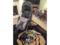Selection of baby gear inc. buggy and nightlights