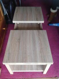 Coffee table with storage shelf & magazine rack