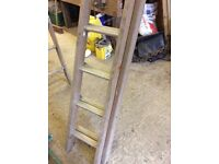 Timber ladder.