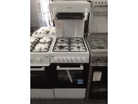 Beko white 50cm high level grill single gas cooker. £270 RRP £379 New/graded 12 month Gtee