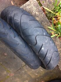 bike tyres for 125 fr 100 / 130 rear used