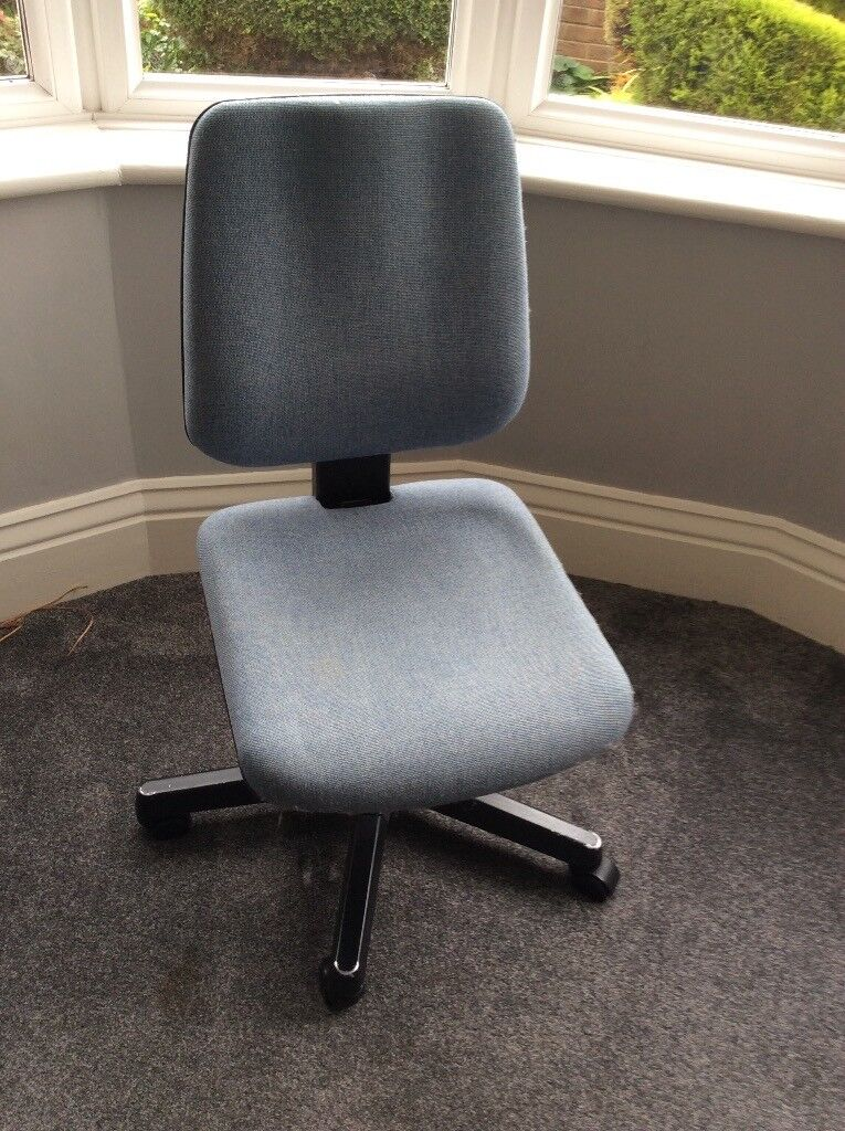 Blue Upholstered Office Chair