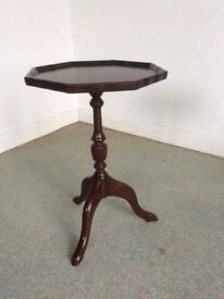 Small wooden octagon side table