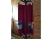 Tommy n loulou vintage red maxi skirt L