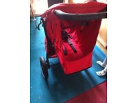 Phil&Teds classic red double buggy