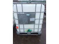 1000lt IBC water tank container food graded used once vgc more available