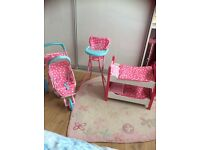 For sale Mothercare Cupcake stroller, high chair & wooden bunk beds RRP ��70+