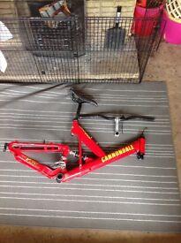 Cannondale v400 red frame