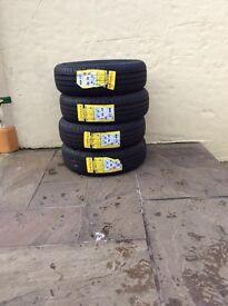 4x new car tyres unused
