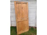 Original Victorian Stripped Pine 4 panel Door.
