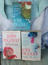 Bundle of 3 Jodi Picoult paperback novels - The Tenth Circle - Handle with Care - Second Glance