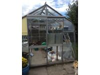 Greenhouse 10 x 8 with two automatic opening windows