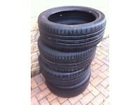 Four Continental low profile part worn tyres 2 at 225 x 45 x R18, & 2 at 245 x 40 x R18