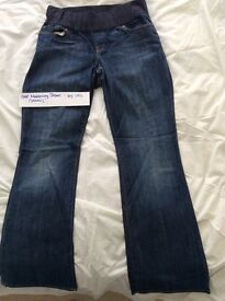 Maternity Jeans bundle-2 blue (Gap), 1 black (Jojo MB), fit size 10-12, vg cond, £7 each (£20 all 3)