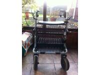 4 Wheel Steel Walker With Tray & Basket.