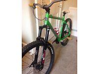 Kona muli-mula, freeride bike, marzocchi, hope, Dt swiss, mavic, shimano xt