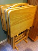 TV tables - set of 4