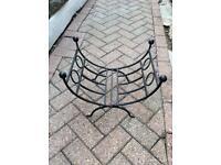 Cast iron log holder