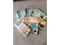 Over 20 cake decorating magazines and books in good condition