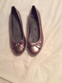 Marks & Spencer women's bronze flat shoes size UK7 brand new
