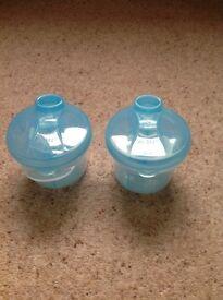 Philips Avent milk powder/formula dispensers (2)