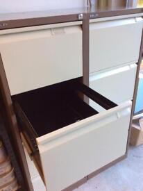 Tall metal filing cabinet