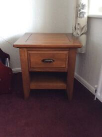 Side / lamp / telephone table - solid oak