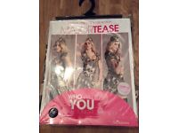 Ann Summers Major Tease Dress Up Outfit Size 10 Brand New