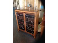 Bookcase / Glass fronted display cabinet