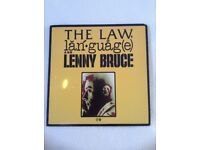 Vinyl 2 Lenny Bruce LPs: The Law, language & Lenny Bruce, What I Was Arrested For