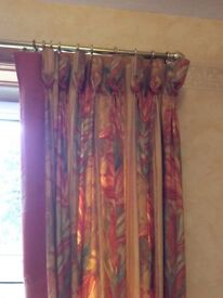 Curtains with matching brass pole