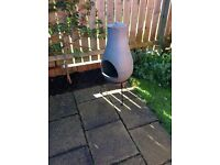 Chimnea - ceramic look cast with detachable stand