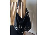 Black and Silver Stylish Handbag. Good Condition. Bargain